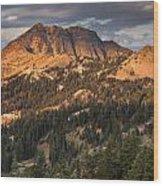 Alpenglow On Brokeoff Mountain Wood Print