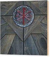 Alpha And Omega Chi Rho Wood Print