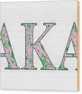 Alpha Kappa Alpha - White Wood Print