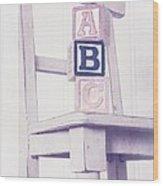 Alphabet Blocks Chair Wood Print