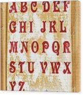 Alphabet With Scroll 2 Wood Print