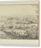 Alphonse Legros, Valley In Bourgogne Une Vallee En Bourgogne Wood Print