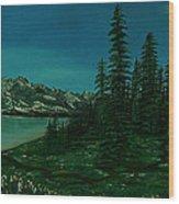 Alpine Garden Wood Print