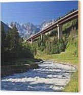 Alpine Highway Wood Print