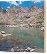 Alpine Lake Beneath Sunlight Peak Wood Print