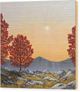 Alpine Meadow II Wood Print