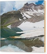 Alpine Reflection In The San Juans Wood Print