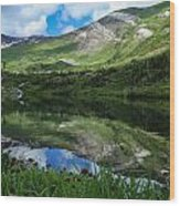 Alpine Reflections Wood Print