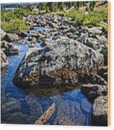 Alpine Stream Beartooth Mounain Range Wood Print by Edward Fielding