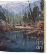 Alpine Wonder Wood Print by W  Scott Fenton