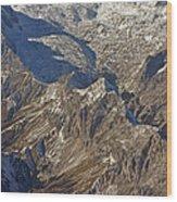Alps - The Bowl Wood Print