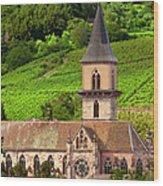Alsace Church Wood Print by Brian Jannsen