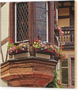 Alsace Window Wood Print