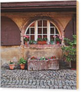 Alsatian Home In Kaysersberg France Wood Print by Greg Matchick