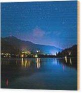 Alta Lake Lights Wood Print