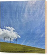 Altamont Windmills Wood Print