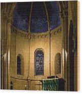 Altar And Pulpit Of The Collegiale De Neuchatel Wood Print