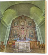 Altar In An Old Chapel Wood Print