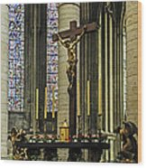 Altar Of Rouen Cathedral Wood Print
