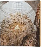 Altar Of St. Charles Church  - Karlskirche -  In Vienna Wood Print