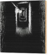 Altered Image Of The Catacomb Tunnels Paris France  Wood Print