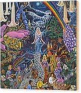 Alto Cielo Wood Print by Pablo Amaringo