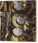 Alto Sax Reflections Wood Print