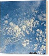 Altocumulus Clouds Wood Print