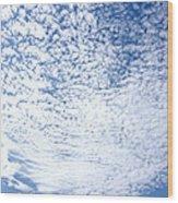 Altocumulus Stratiformis Perlucidus Cloud Wood Print