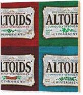 Altoids Collection Scratches Wood Print