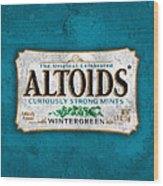 Altoids Wintergreen Scratches Wood Print