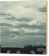 Altostratus Undulatus Asperatus Clouds Wood Print