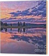 Alum Creek Sunrise Wood Print