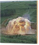 Aluminium Powder Explosion Wood Print