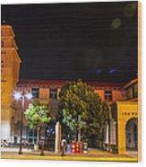 Alvarado Transportation Center Night Wood Print