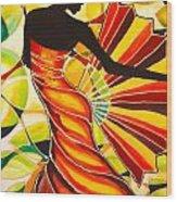 Alysia The Fan Dancer Caye Caulker Belize Wood Print