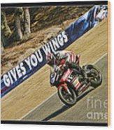 Ama Superbike Cory West Wood Print