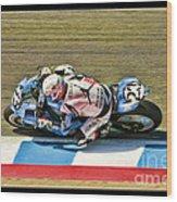 Ama Superbike Danny Eslick Wood Print