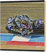 Ama Superbike Josh Jayes From Above Wood Print