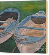 Amalfi Boats Wood Print