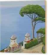 Amalfi Coast From Ravello Wood Print