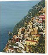 Amalfi Coast Hillside II Wood Print