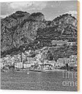 Amalfi Coast Monochrome Wood Print