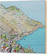 Amalfi Coast Praiano Italy Wood Print