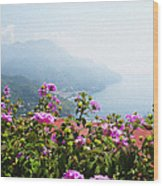 Amalfi Coast View From Ravello Italy  Wood Print