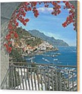 Amalfi Vista Wood Print