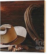 Amarillo By Morning Wood Print