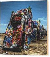 Amarillo - Cadillac Ranch 004 Wood Print by Lance Vaughn