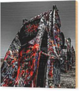 Amarillo - Cadillac Ranch 005 Wood Print