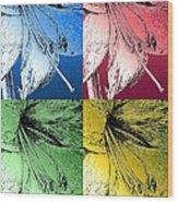 Amaryllis Pop Art Wood Print
